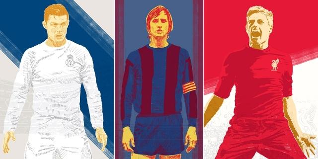 Jedenáctka snů fotbalové historie podle čísel, jež nosili hráči na dresech